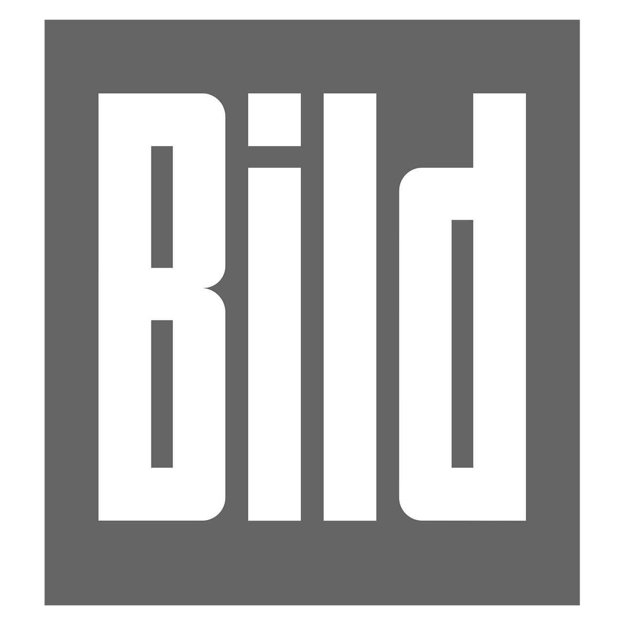 Logo Bild, black & white