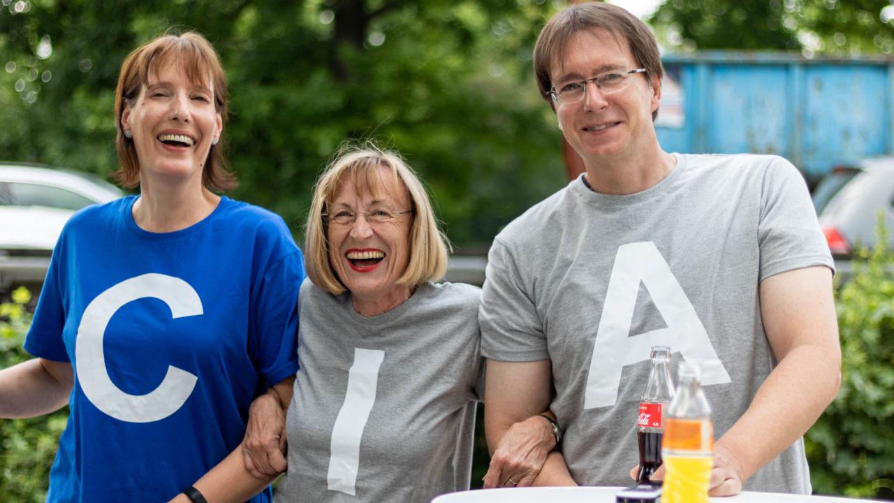 Sommerfest 2019, Christiane, Elli, Andreas