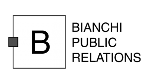 Logo Bianchi Public Relations, black & white