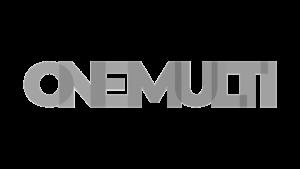 Logo OneMulti, black & white