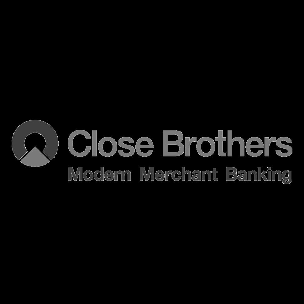 Logo Close Brothers, black & white